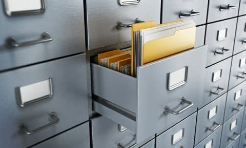 Filing Cabinets with Business Records