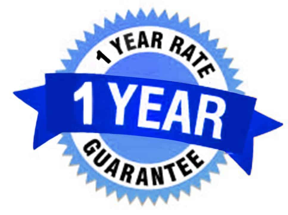 One Year Rate Guarantee