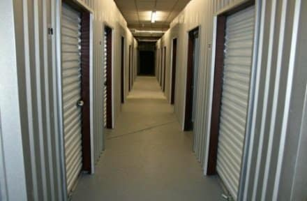 Climate controlled hallway in Longview Climate Storage